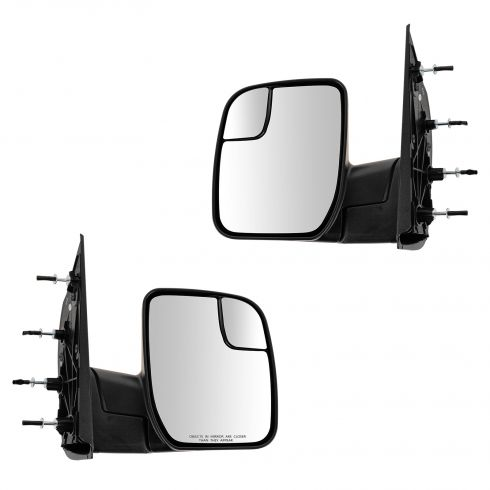 10-13 Ford Van (w/Integrated Spotter ) Textured Black Manual Mirror PAIR