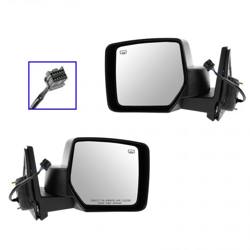 07-12 Jeep Patriot Power Heated Black Textured Mirror PAIR