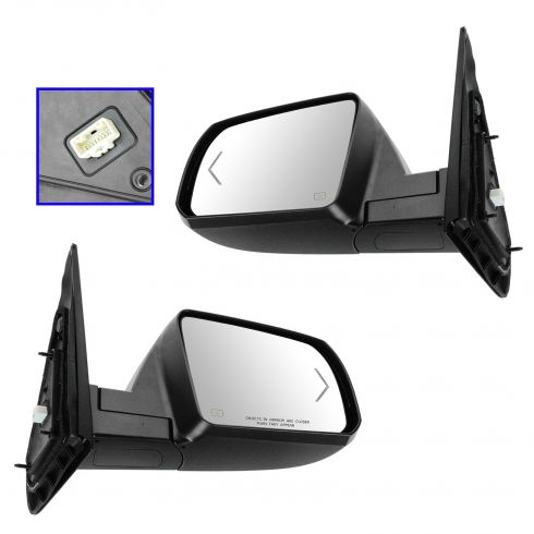 07-12 Toyota Tundra; 08-12 Sequoia Power Folding, Heated, w/Turn Signal w/Chrome Cap Mirror PAIR