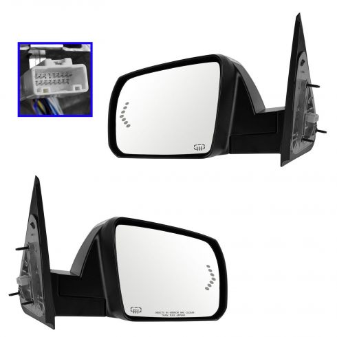 07-12 Toyota Tundra; 08-12 Sequoia Power Folding, Heated,Memory,w/Turn Signal,Chrome Cap Mirror PAIR