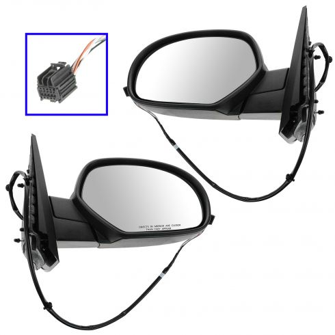 07-12 GM Full Size PU, SUV Power Heated w/Chrome Cap Mirror PAIR