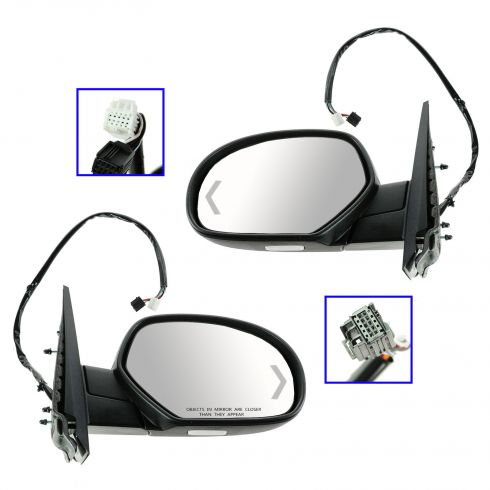 07-12 GM Full Size PU, SUV Power Folding, Heated, Memory, Puddle Light, Signal w/PTM Cap Mirror PAIR