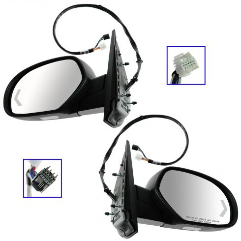 07-12 GM Full Size PU, SUV Power Folding, Heated, Memory, Puddle Light, Signal w/TXT Cap Mirror PAIR