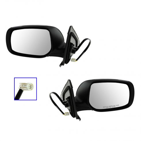 09-12 Toyota Matrix Power Gloss Black Mirror PAIR