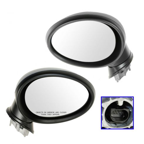 07-12 Mini Cooper, Cooper S; 08-12 Clubman (exc Conv) Power Folding Heated PTM Mirror PAIR