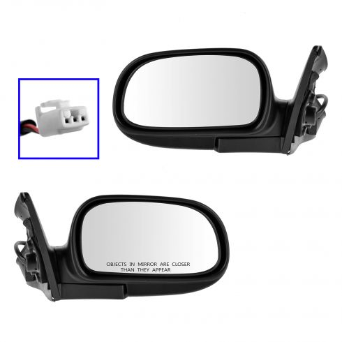 93 Toyota Corolla w/2WD; 94-97 Corolla Power Mirror PAIR