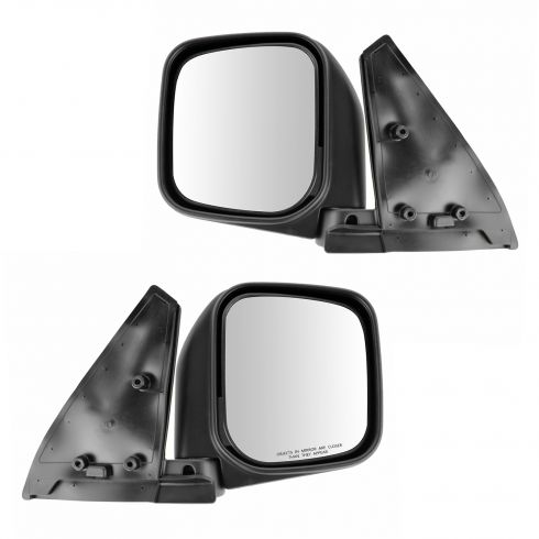 92-00 Mitsubishi Montero; 99-00 Montero Sport Manual Black Mirror PAIR