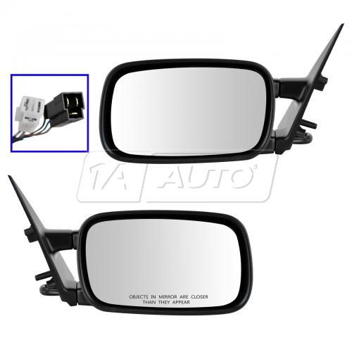 90-97 VW Passat Power Heated Textured Black Mirror PAIR