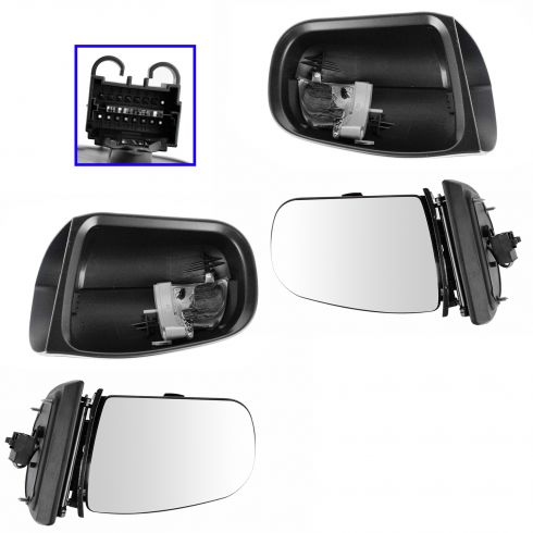 00-03 MB E320; 00-02 E430, E55AMG Power Heated w/Turn Signal (7 Pin) Mirror PAIR