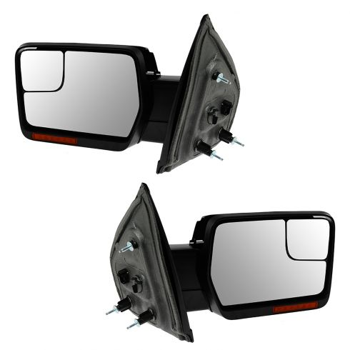 04-08 F150 Pwr Fld, Dual Htd Glass, Dual LED Turn Signl, PL, Chrm & Txt Caps Mirror PAIR (Upgrade)