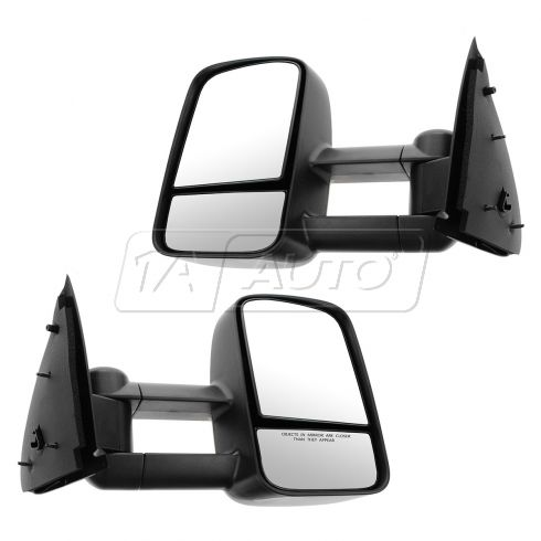 97-03 F150; 04 F150 Heritage; 97-99 F250LD Manual Dual Arm Textured Tow Mirror PAIR (UPGRADE)