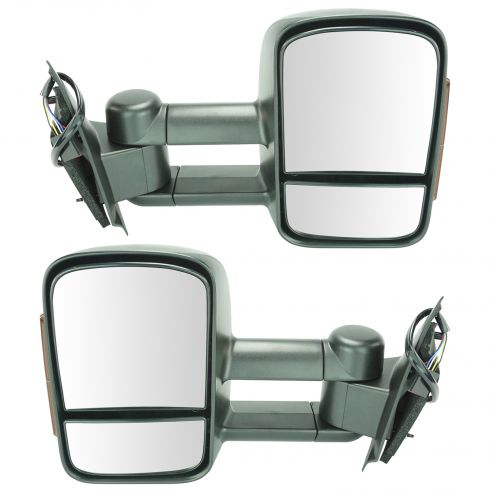 97-03 F150 (exc Crw Cb); 04 F150 Hert; 97-99 F250LD Dual Arm Text Tow w/TS Pwr Mirror PAIR (UPGRADE)