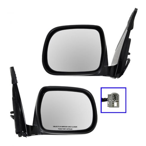 04-06 Lexus RX330; 07-09 RX350 06-09 RX400H Power Heated Mirror PAIR