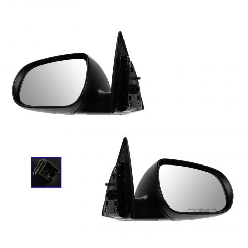 11-13 Kia Forte Coupe Power Heated w/Turn Signal Black PTM Mirror PAIR