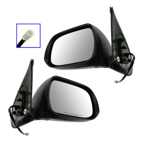 12-13 Toyota Tacoma Power Black Textured Mirror PAIR