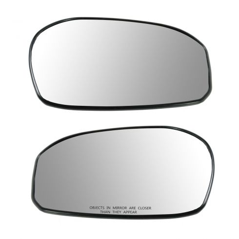 09-13 Honda Fit Base Non Heated Plastic Backed Mirror Glass Pair