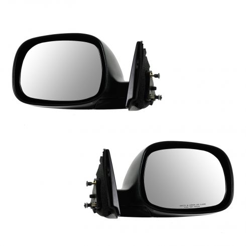 00-06 Toyota Tundra Manual Black Textured Mirror PAIR