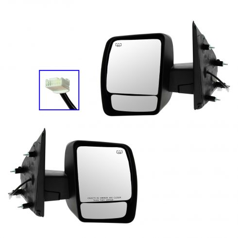 12-13 Nissan NV 1500, 2500, 3500 Power, Heated w/Chrome Cap Mirror PAIR