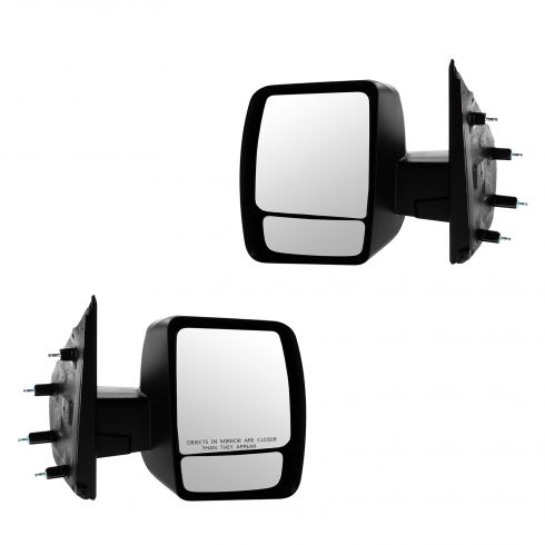 12-13 Nissan NV 1500, 2500, 3500 Manual w/Textured Black Cap Mirror PAIR