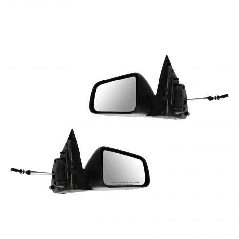 08-11 Ford Focus Manual Lever Controlled Black Textured Mirror PAIR