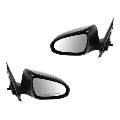 12-13 Toyota Yaris Hatchback Manual Textured Black Mirror PAIR