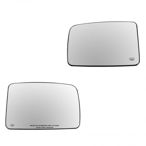 03-07 Ford Expedition, Lincoln Navigator Power Heated Mirror Glass w/Backing PAIR