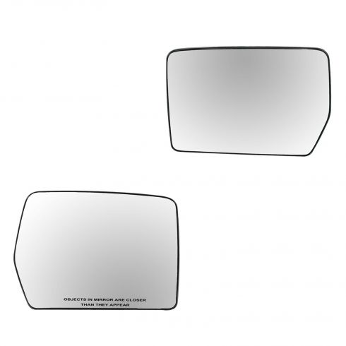 04-07 Ford F150; 06-08 Lincoln Mark LT (exc Tow Pkg) Power Heated Convex Mirror Glass w/Backing PAIR