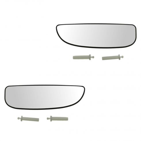 05-07 Ford F250-F550 Super Duty Towing Power Dual Mirror Lower Adjustable Glass PAIR