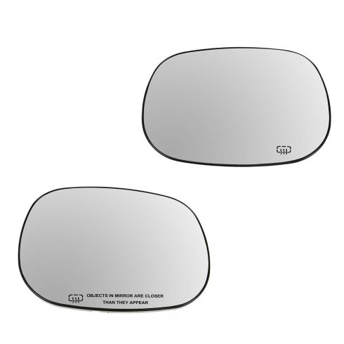 99-00 Durango; 98-01 Ram 1500; 98-02 2500, 3500 Power Heated Mirror Glass PAIR