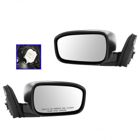 03-07 Honda Accord Coupe Power Gloss Black Mirror PAIR