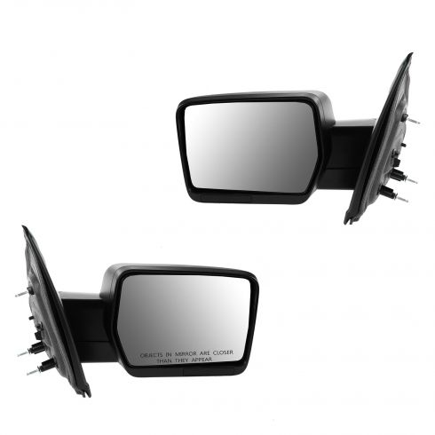 09-10 Ford F150 Manual Textured Black Mirror PAIR