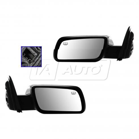 09-12 Ford Flex Power Heated w/Memory w/Puddle Light w/Chrome Cap Mirror PAIR