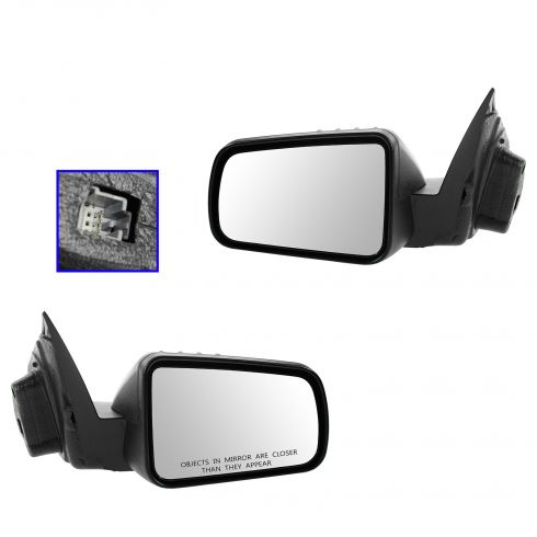 08-11 Ford Focus Power Textured Black Mirror PAIR
