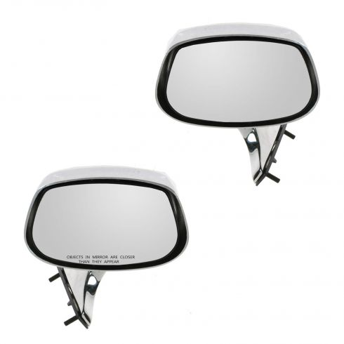 80-90 GM Full Size RWD Chrome Manual Mirror PAIR
