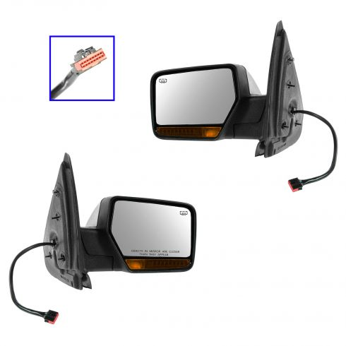 07-13 Expedition, Navigator Power Folding, Heated, Memory, w/Turn Signal & w/Chrome Cap Mirror PAIR