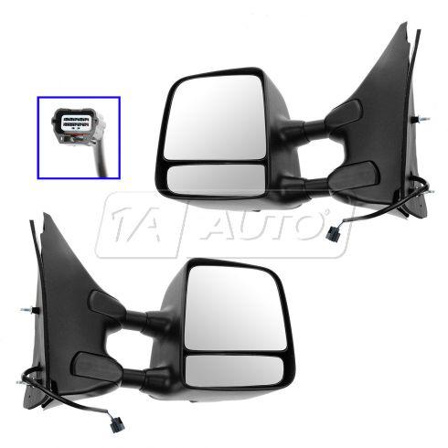 05-13 Nissan, Suzuki PU, SUV Power HTD (w/Txt & Chm Cvrs) Dual Swing Telescp Tow Mirror Upgrade PAIR