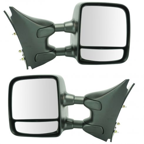 05-13 Nissan, Suzuki PU, SUV Manual Dual Swing Telescoping Textured Tow Mirror Upgrade PAIR