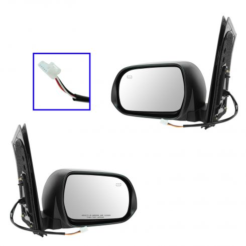 13 Toyota Sienna Power Heated PTM Mirror PAIR