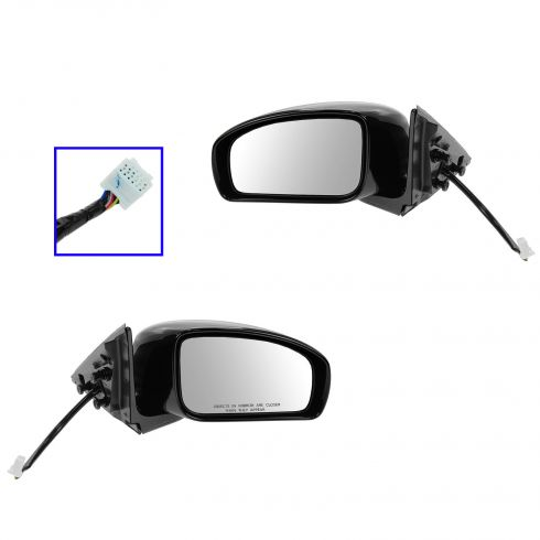 07-08 Infiniti G35 Sedan Power Heated Memory PTM Mirror Pair