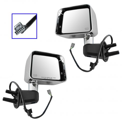 11-13 Jeep Wrangler Power, Heated, w/Chrome Cap Mirror PAIR