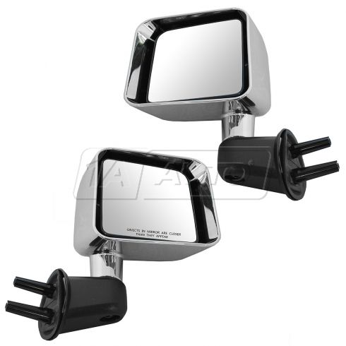 07-10 Jeep Wrangler Manual w/Chrome Cap Mirror PAIR