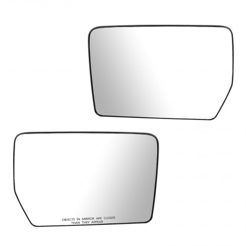 04 Ford F150 (New Body); 05-11 F150; 06-08 Lincoln Mark LT (Non Heated, Non Tow) Mirror Glass PAIR