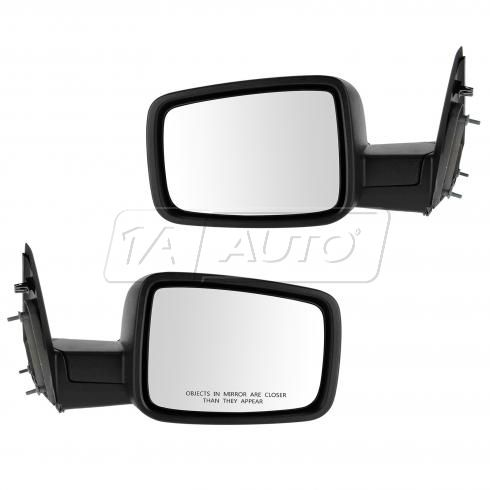 13 Ram 1500, 2500 Manual Textured Black Mirror PAIR