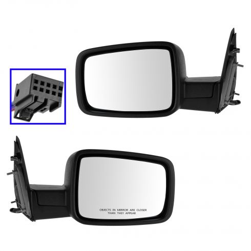 13 Ram 1500, 2500 Power, Heated Textured Black Mirror PAIR