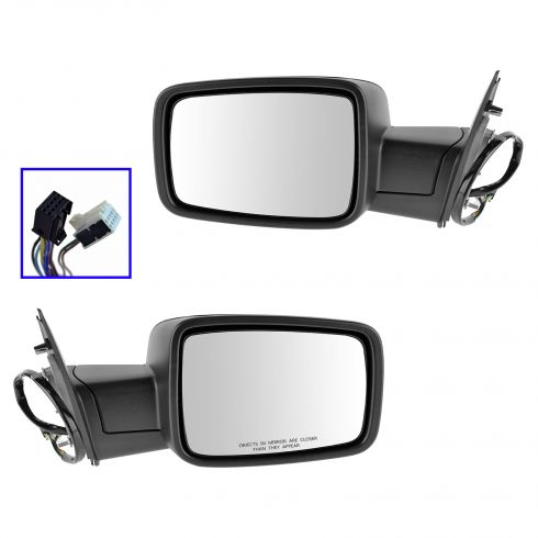 13 Ram 1500, 2500 Power Folding, Heated, Turn Signal, Puddle Light PTM Mirror PAIR