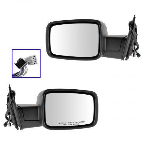 13 Ram 1500, 2500 Power Folding, Heated, Turn Signal, Puddle Light, Memory w/Chrome Cvr Mirror PAIR