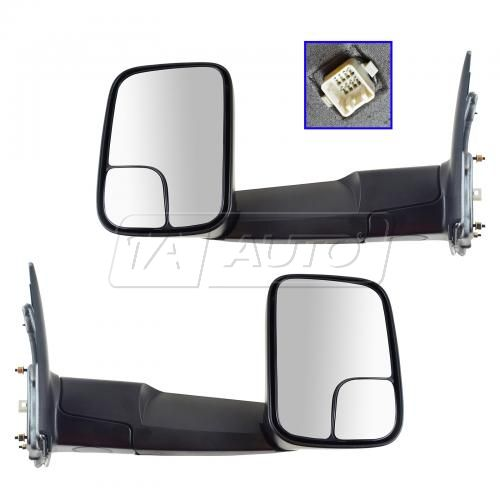 02-09 Dodge Ram 1500 Pickup; 03-09 Ram 2500 3500 Power, Heated Towing Textured Black Mirror PAIR