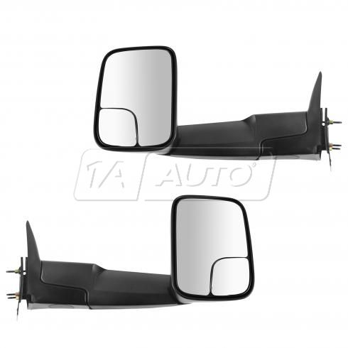 94-02 Dodge Ram 1500; 94-01 Ram 2500, 3500 (7 x 10 inch) Manual Towing Textured Black Mirror PAIR