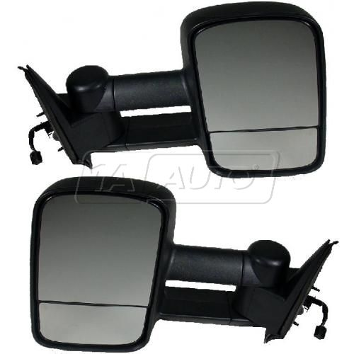 1999-02 Silverado Sierra Towing Mirror Telescopic Power Heated Pair (2008 HD style)