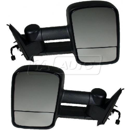 1999-02 Silverado Sierra Towing Mirror Telescopic Power Heated Pair (2008 HD style)